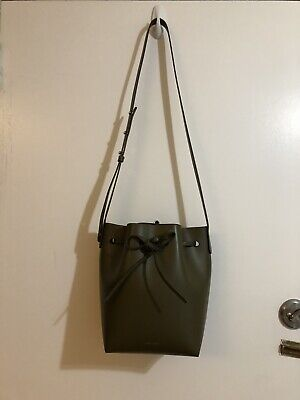 d34b0bc189ab0 AUTHENTIC MANSUR GAVRIEL Calf Mini Bucket Bag In Olive (Retail  610 ...