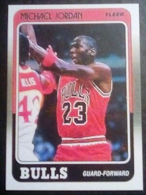 1988-89 Fleer Basketball Michael Jordan #17 **Reprint** card.Bulls.Mint.Free...