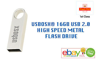 USBOSX® 16GB Metal USB 2.0 Flash Drive Memory Stick fast read and writes.