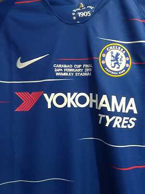 Chelsea FC Home Shirt 2018/19 Brand NEW CARABAO CUP FINAL 24th FEB 2019 WEMBLEY
