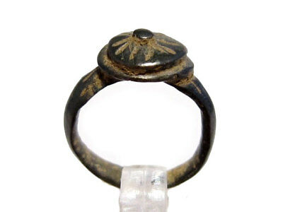 AMAZING Roman Billon RING, TOP DECORATION AND CONDITION+++