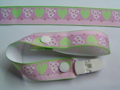 A Gorgeous Girls Hearts Dummy Strap Clip /pacifier /toy Clip