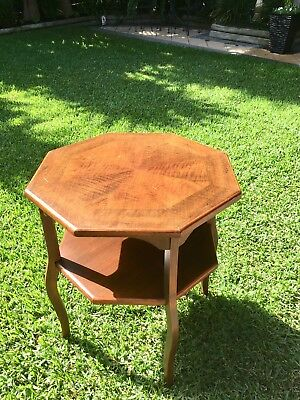 Antique Timber Inlaid Table