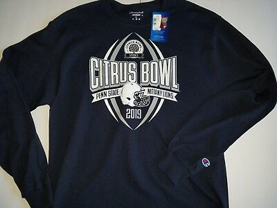 CITRUS BOWL 2019 PENN STATE  Nittany Lions Champion Authentic L/S T-shirt NWT