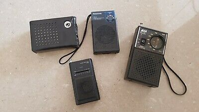 Collection Of Transistor Radios Panasonic Tempest Standard Alta All Working
