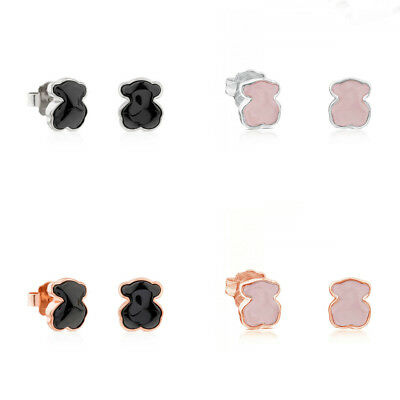 Women Famous Hot Stainless Steel Teddt Bear Animal Pierced Earrings Stud Jewelry