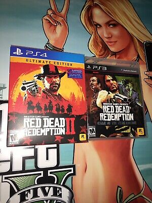 Red Dead Redemption II 2 ULTIMATE SteelBook Edition PS4 + GOTY PS3 RDR 1 Like Nu