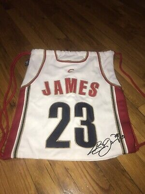 2003 Official NBA LeBron James Cleveland Cavaliers Jersey Cotton Drawstring  Bag 43dde1a82