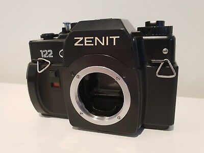 Zenit 122 Russian 35mm film SLR camera.