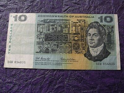 """1966 """"Commonwealth Of Australia"""" $10 Dollar Paper Banknote - Coombs/Wilson"""