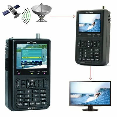 "SATlink WS-6906 Satellite Signal Finder DVB-S FTA Data HD Digital Meter 3.5"" LCD"
