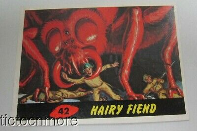 1962 Mars Attacks Trading Card #42 Hairy Fiend Original