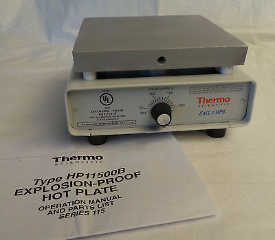 Thermo Scientific Safe-T HP6 HP11515B Explosion Proof Hot Plate