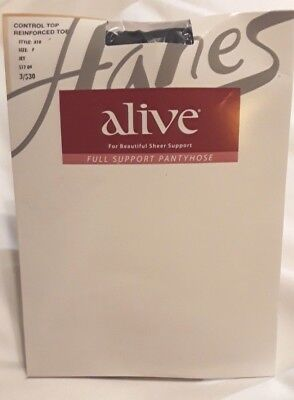 5a3e82f37076e Hanes Alive SZ F Jet Full Support Control Top Reinforced Toe Pantyhose Style  810