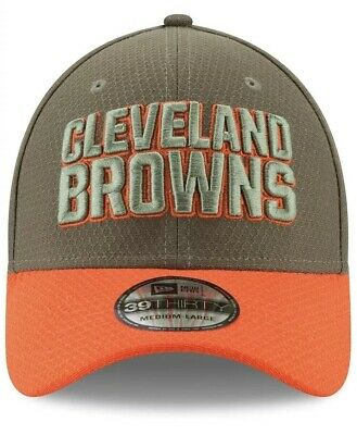 7b193a1fe82 New Era Cleveland Browns 2017 Salute To Service 39THIRTY Flex Hat NWT  36  Sz M