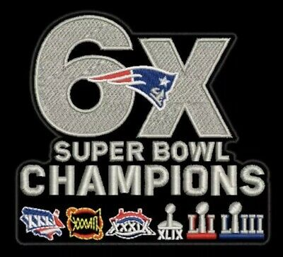 SUPER BOWL 53 LIII PATRIOTS CHAMPIONS PATCH 6X SUPERBOWL Champs NFL Brady Jersey