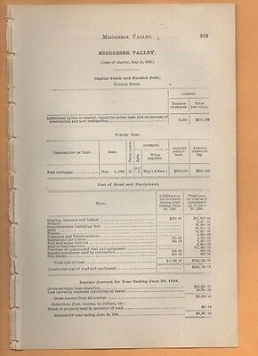 1893 New York railroad report MIDDLESEX VALLEY RR Naples to Stanley Ontario NY