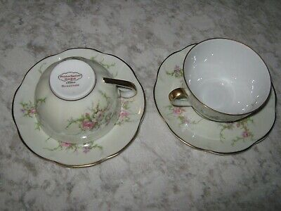 FRENCH Rosalinde by Theodore Haviland 7 cups and 2 saucers