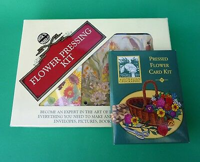 House of Marbles Flower Pressing Craft Kit Gift Set Wooden Press + Card Kit