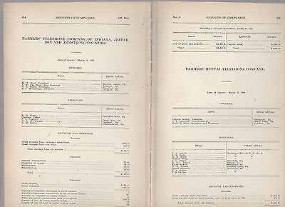 1906 annual report FARMERS TELEPHONE CO Indiana Jefferson Armstrong county PA
