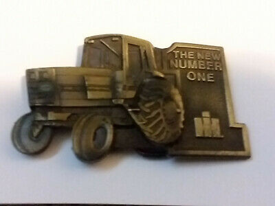 Vintage Brass Belt Buckle - International Harvester The New Number One