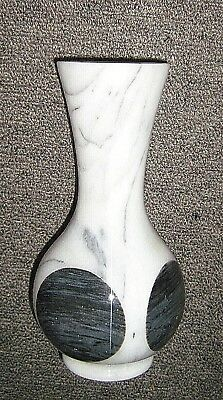 black and white,Vintage alabaster vase EUC