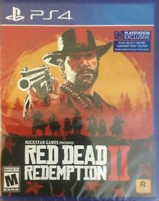 New Sealed Red Dead Redemption 2 PS4 PlayStation 4 Video Game