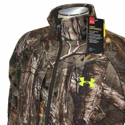 f05fd901dbe92 Under Armour Coldgear Infrared Jacket M Camo Scent Control Hunting Mens NWT  $180