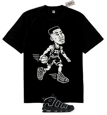 Fnly94 Scottie Pippen Black White OG shirt  match Air More Uptempo