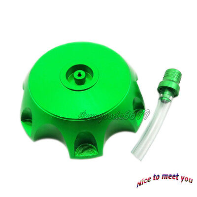 Aluminum Green Gas Fuel Tank Cap Cover For CRF50 Thumpstar Atomik Pit Dirt Bikes