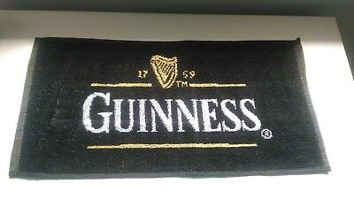 New Unused Guinness Brewery Beer Bar Mat Towel Home Bar Pub Man Cave Collectable