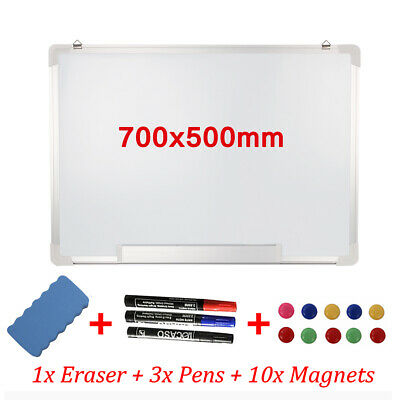 New 700x500mm Wall Mount Magnetic Whiteboard Home Office School White Board