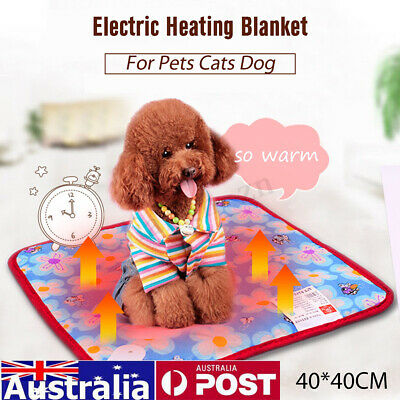 AU Safe Pet Electric Heat Heated Heating Pad Mat Bed Blanket Bed Dog Cat Bunny