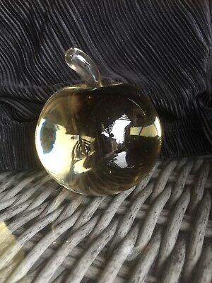 Glass Apple Paperweight