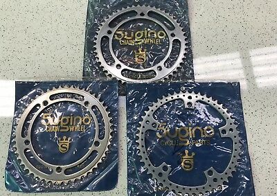Sugino Campagnolo Chain Rings Vintage Racing Bicycle Lot Of 3