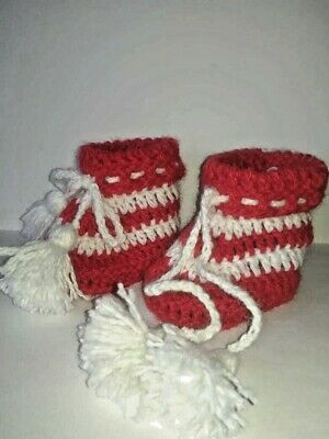 handmade baby booties, children's booties handmade, exclusive design, in a singl