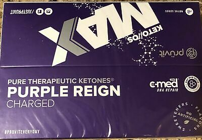 Pruvit Keto OS MAX Purple Reign (Charged) 20 Packets New In Box Ketones