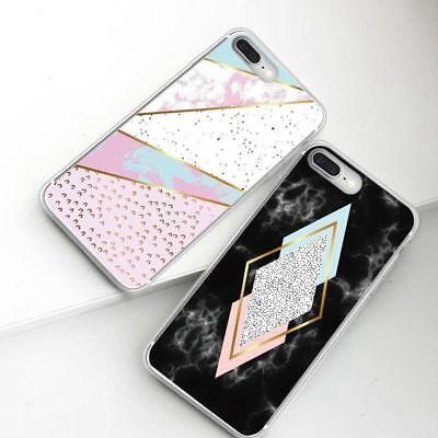 For Huawei P10/P20 Lite Marble Design Hybrid Armor Case Protective Phone Cover