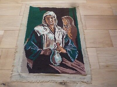 Tapestry, The Peasant, The Wine, French Wool Tapestry, Craft Project, Sewing