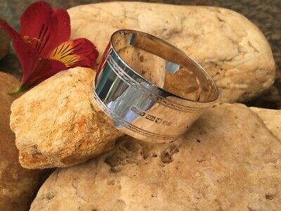 ANTIQUE 925 Sterling Silver By WJS Napkin Ring