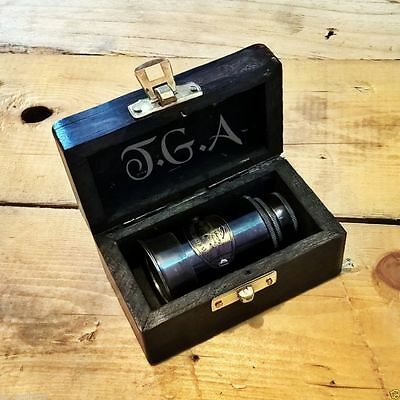 Antique Victorian Marine Telescope With Wooden Box Beautiful Gift