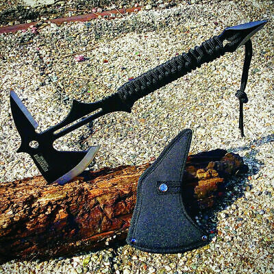 """15"""" Full Tang Hunting Axe Stainless Steel Blade Nylon Handle with Sheath"""