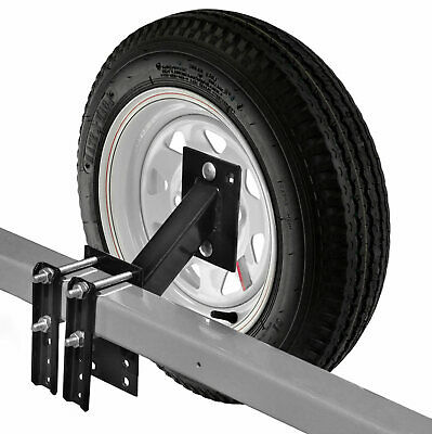 NEW Spare Tire Carrier Boat Trailer Travel Utility Cargo Wheel Rim High Mount RV