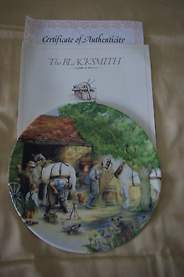Royal Doulton Old Country Crafts Collector's Plate - The Blacksmith