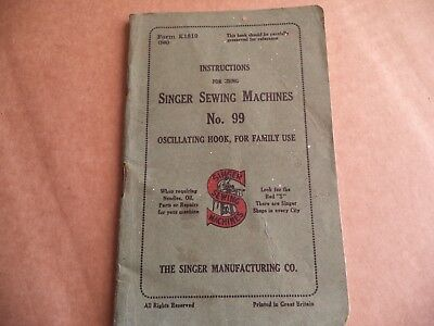 Vintage Singer Sewing-Singer 99 Manual