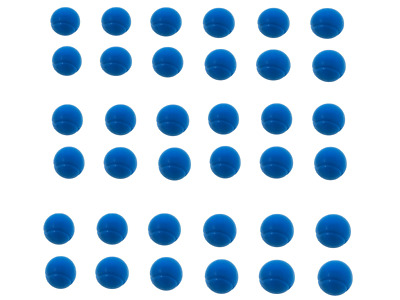 E-Deals 70mm Soft Foam Balls - Pack of 36 Blue