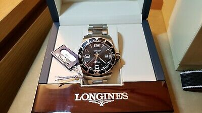Longines SS HydroConquest Original Box & Warranty - L37424566