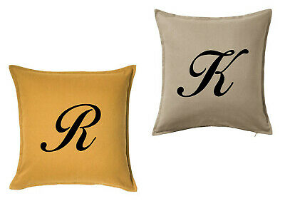 Personalised letter initial Heat Pressed vinyl printed cushion covers