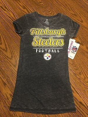 Pittsburgh Steelers NFL Teen Girls Graphic Short-Sleeve T-Shirt Medium (7  296736d2b