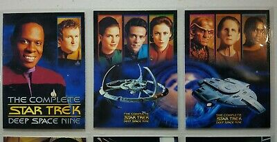 Star Trek Deep Space Nine The Complete, Base Set 189 Cards,p1,p2,& 3 Inserts